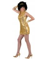 Disco Dress Gold Adult Large