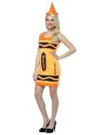 Crayola Tank Dress Neon Orange