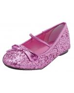 Flat Ballet Glitter Ch Pink Md
