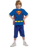 Superman Child Shirt Cape Lg