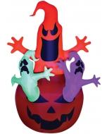 Airblown Pumpkin W Neon Ghost