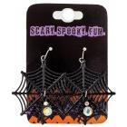 Earrings Spider Web Black