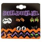 Earrings 9Pk W/Spooky Characte