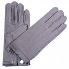 Gloves Nylon W Snap Mens Grey