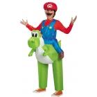 Mario Riding Yoshi Child