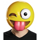 Tongue Out Emoticon Mask