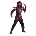 Red Fire Ninja Muscle Chld 7-8