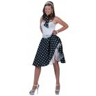 Sock Hop Skirt Scarf Bk White