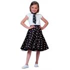 Sock Hop Skirt Child Black Whi