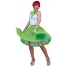 Sock Hop Skirt Adlt Green Pink