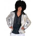 Disco Jacket Silver Adult Med