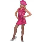 Disco Dress Child Hot Pk Lg