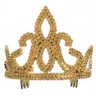 Tiara-Plastic W/ Combs Gold Ch