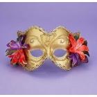 Venetian Mask Gd/Gd W/Flowers