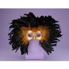 Half Style Mask Gd W Feathers