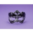 Half Style Mask Bk W Silver