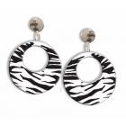Earrings Zebra White