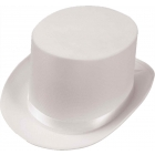 Top Hat Satin Adult White