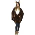 Reindeer Poncho Adult Adult