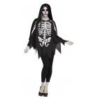 Poncho Skeleton Ad One Size