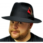 Gangster Hat Black Small