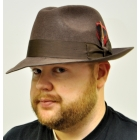 Gangster Hat Brown Small