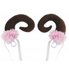 Floral Clustered Nymph Horn Pr