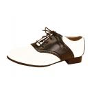 Shoe Saddle Bk And Wt Wmn Lg