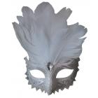 Carnivale Eye Mask White Silve