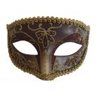 Opera Eye Mask Burgundy Gold