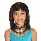 Cleo Child Wig Black With Gold