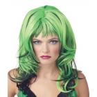 Wig Hard Rockin Witch Bk Green