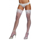 Thigh High Lace Top White