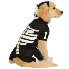 Pet Costume Bones Glows Lg