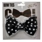 Bow Tie Black W White Stars