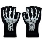 Short Fingerless Glove W Skele