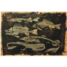 Skeleton Fish Canvas W/O Frame