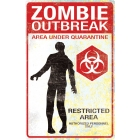 Metal Sign Zombie Outbreak