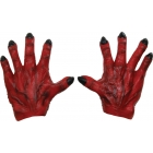 Monster Hands Red Latex