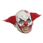 Clown Dlx Chinless Mask Red Ha