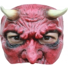Devil Latex Half Mask