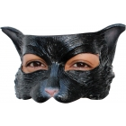 Kitty Black Latex Half Mask