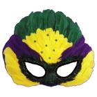 Mask Mardi Gras Sequin Feather