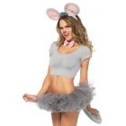 Mouse Kit Ears Tail Bow Tie