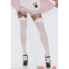 Stockings Thi Hi W/Bow Bk/Pk