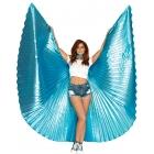 Metallic Pleated Wings 360 Deg Met-Blue