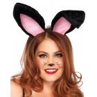 Bunny Ears Adult Plush Black
