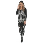Skeletal Hoodie Dress Adult La