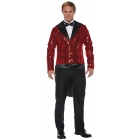 Sequin Tails Ad Red Std