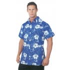 Hawaiian Shirt Blue Adult Xl